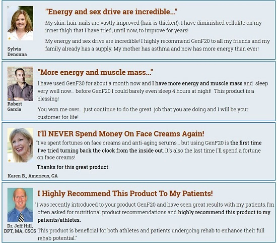 GenF20 Plus Reviews and testimonial