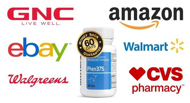 Phen375 is not available for purchase at Amazon, GNC, or Walmart
