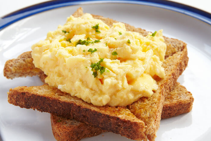 Scrambled Egg on Toast