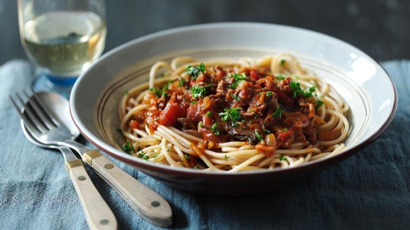 Skinny Spaghetti Bolognese