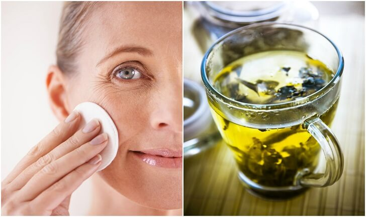 green tea for younger looking skin