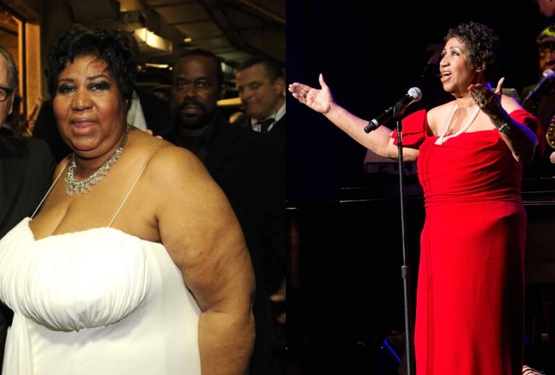 aretha franklin weight loss transformation
