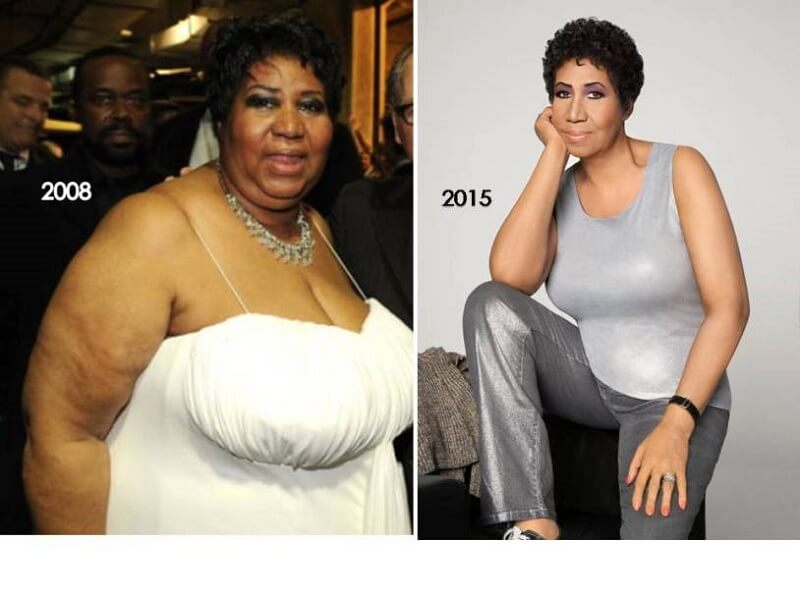 aretha weight loss transformation
