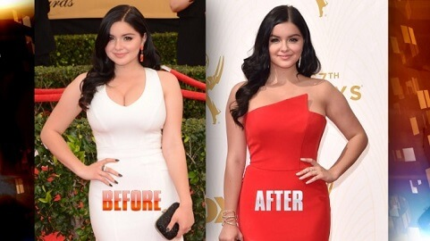 ariel winter before and after weight loss