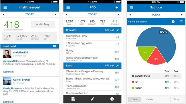 best weight loss apps MyFitnessPal