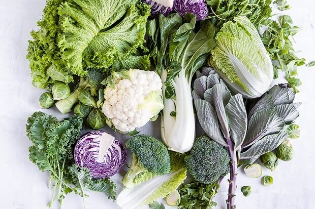 cruciferous veggies for low fat