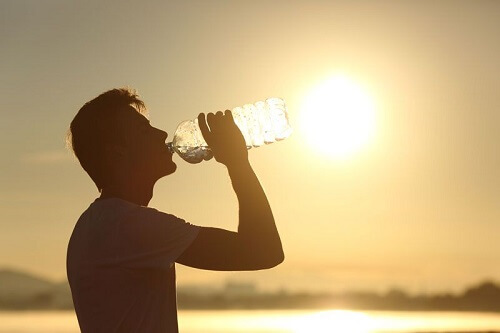increase water intake to get six pack