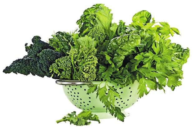 leafy greens for low fat