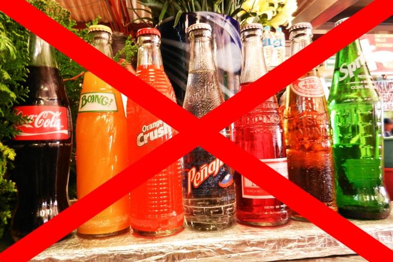 avoid taking carbonated drinks and sodas