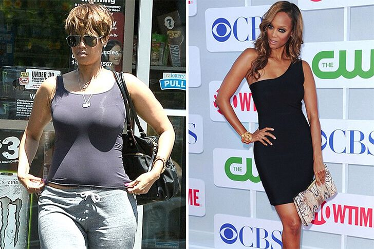 tyra banks now and then