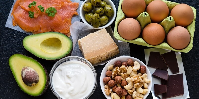 foods to eat: Avocados, nuts, eggs, etc